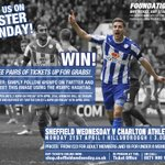 """@swfc: WIN! Three pairs of tickets for Owls v Charlton on Monday are up for grabs! RT to enter #swfc http://t.co/xDWYevH1vl"" #swfc"