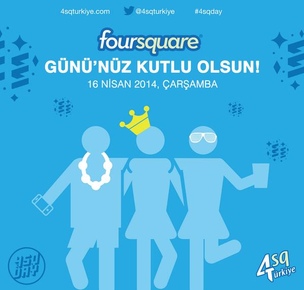 Foursquare Günü'nüz kutlu olsun! #4sqDay #4sqDay14 via @4sqDay @Foursquare @4sqSupport http://t.co/Sjaek56uib