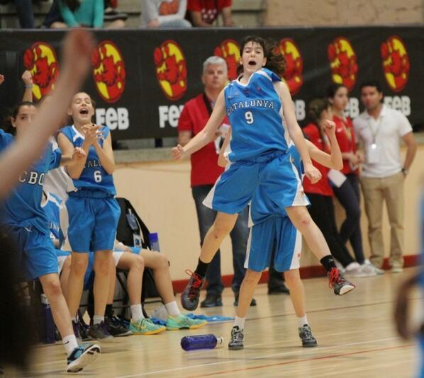 FCBQ (@FCBQ): CAMPIONES! #CatalunyaBQ Mini Femení supera Andalusia (66-58) i es proclama campiona del #Mini2014 Enhorabona noies! http://t.co/DwuJz3p9PE