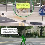 Siala! The green man really climbed out of the traffic light to cross the road!! http://t.co/LHkWxb2KBb