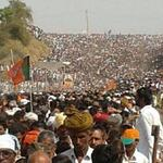 Shri @narendramodi Jis Rally In Rajasthan.. You can Imagine Modi Wave in India #AbkiBaar300Paar http://t.co/ZTaF3qfDQf