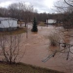 Water coursing through a subdivision in Sussex Corner. #nb http://t.co/rvSJ61xSVk