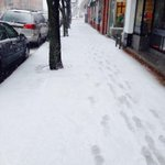 What the heck Mother Nature? Sidewalk in downtown #fredericton @Global_NB http://t.co/DA7mNVLOCV