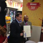 "Mayor Nutter officially proclaims April 16 ""Wawa Day"" in the City of Philadelphia today. #Wawa50th http://t.co/vZXPg31n6Z"