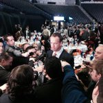 RT @KamiCarmann: #Broncos Peyton Manning taking football with Denver media for first time since #SuperBowl at the Boy Scouts Breakfast http://t.co/hoj1DpxMdK