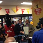 This morning Mayor @Michael_Nutter proclaimed it @Wawa Day in Philly! Happy 50th Anniversary to our title sponsor! http://t.co/6Po1K8oq3o