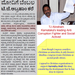 RT @BJPAmethi: Karnatakas leading anti corruption fighter, TJ Abraham, appeals to Christians to vote 4 @narendramodi http://t.co/WILgA2VXLC