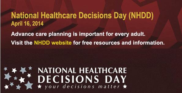 Your decisions matter, especially on National Healthcare Decisions Day! @NHDD #NHDD http://t.co/twvXkHRCr0