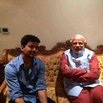 RT @sri50: Another pic of Vijays meeting with @narendramodi http://t.co/yGNVVLtN9o