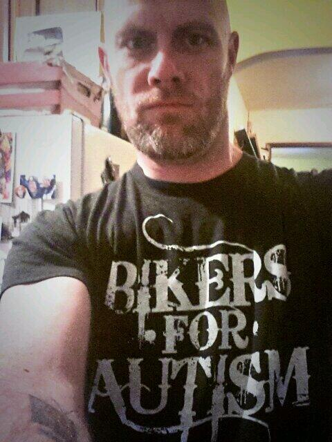 Breaking all the rules today & wearing my @BikersForAutism shirt to work. Who's joining me? http://t.co/PxdAoDwdML