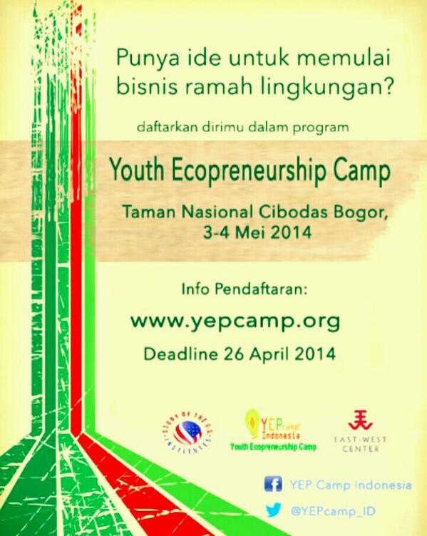 Anak2 muda yg punya ide bikin bisnis ramah lingkungan,yuk ikut kegiatan ini! Detail cek poster. Cc @GraciaParamitha http://t.co/SpE09NxoDi