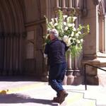 RT @cmaconthehill: Crew members are bringing flowers into St James Cathedral for the state funeral for Jim Flaherty #cdnpoli #Flaherty http://t.co/CptyMoMAl5