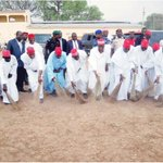 Kwankwaso & members of his cabinet sweeping the Polo ground,Kano after GEJ & oda PDP members had finished their rally http://t.co/4GRX2gkzMK