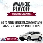 Enter to Win #Avalanche tickets for Round 1 Playoffs courtesy of @Toyota at http://t.co/CqoOXd39tx! http://t.co/X9F0HKNqeW