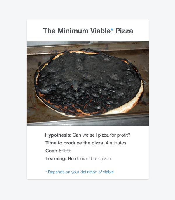 "Remember: To build a minimum viable product (MVP) you must first research what ""viable"" is. http://t.co/MUXNp2S68c"
