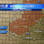 RT @KOCOjonathan: How about these winds? Wind Advisory issued until 3PM for gusts near 40 mph. #windy #OKwx http://t.co/4UgssFl6SO