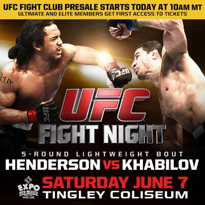 Have your codes ready? The FC presale for #UFCFightNight starts NOW! Get 1st access to tix BEFORE anyone else! http://t.co/gBLAVbkYuz