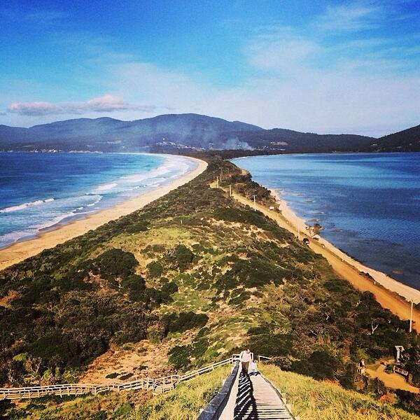 The iconic view from The Neck on Bruny Island in #Tasmania on a beautiful autumn day captured by @findsam! (via IG) http://t.co/CauEcsGLHz
