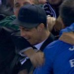 Heres a photo of @Cristiano Ronaldo celebrating @GarethBale11 goal! via @FootballFunnys #ElClasico #GarethBale http://t.co/0wS4Gr0JRs