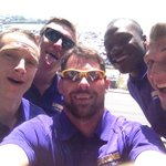 Take that Ellen! Man track selfie at Santa Monica Pier. #OurTeam http://t.co/OacOwfdJs8