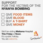 You can support the victims of NyaNya in cash and in kind with Team Member: http://t.co/6q9vWkxsEY http://t.co/opkVUDEgct