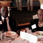 Pic by @JBirchWMC of 87 y/o @doubletree #Memphis east bellman Zac Clemmons (& wife Puddin).. Honored today http://t.co/bMtlqctjED
