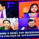 RT @dreamthatworks: Look at d irony! Muslim lady is defending Modi over Muslim cap while a Hindu lady is blaming Modi. #BollywoodSplit http://t.co/RoQNXfqbLh