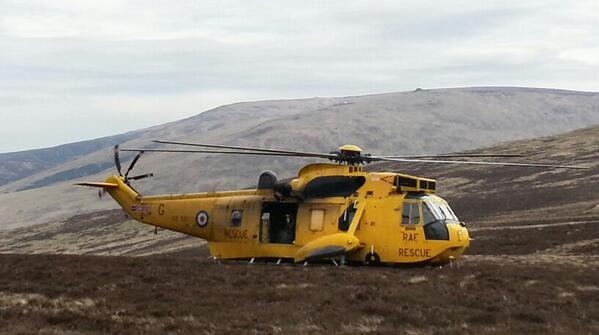 Thid Big Yellow Bird gave me and @LoneWalkerUK a surprise! The #RAF Rescue out practising on the #PennineWay today. http://t.co/0ANCHFlZHp
