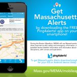 MEMA will use @ping4alerts app at the #BostonMarathon to share public safety info http://t.co/zWWx6reN7R http://t.co/NOr0a0lnaD