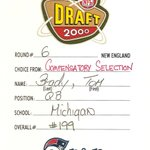 RT @SportsCenter: 14 years ago today, Patriots submitted this draft card to pick Tom Brady. Not bad for the 199th pick. (via @Patriots) http://t.co/s7SnNKFMT2