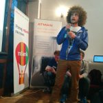 Yuri Drabent entertains the crowd at #OpenReaktor #techwawa http://t.co/l1s7D0gECq