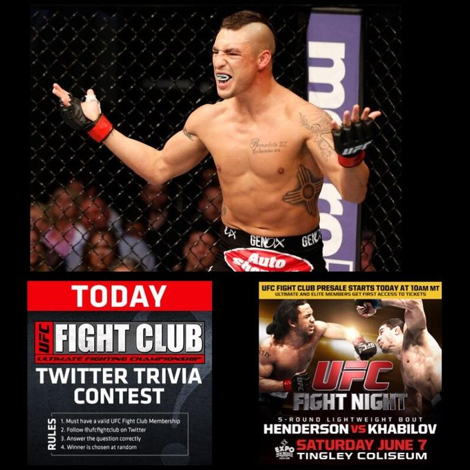 "Q2: @DiegoSanchezUFC  is always an entertaining fighter! How many ""Fight of the Night"" bonuses has he earned? http://t.co/kWsYSwyxdv"