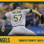 Watch Tommy Milone and the #Athletics battle the Angels tonight at 7:05 PM PT. Game preview: http://t.co/4EuYQ7VCVe http://t.co/rnaw2PR3C7