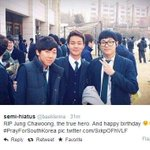RT @mrehesaar: Im really sorry for his parents :( Happy birthday, brave guy! Korea will always remember you! #PrayForSouthKorea http://t.co/cVwQ6hnowS