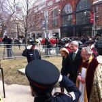 """@cmaconthehill: . @pmharper arrives at the state funeral for Jim Flaherty #cdnpoli http://t.co/bf2HWftfpX"""