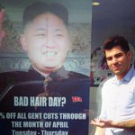 RT @BostonGlobe: PHOTO: North Korea is not happy with a London barber's Kim Jong Un poster. http://t.co/hc14cz3P8y http://t.co/2Nt7JTTglX