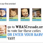 RT @CrusadeChildren: Were getting more babies! Bennett is our newest! Supports #WHASCrusade @WHAS11 @84WHAS @katiedanner1017 Enter yours! http://t.co/9HWun3aZm9