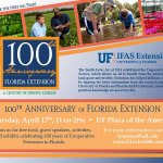 RT @UF_IFAS: We're celebrating 100 years of @UFlorida IFAS Extension tomorrow! Please join us! http://t.co/FltUBNhWNg #UFExt100 http://t.co/IR44e68JV9