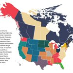 Fan map of NHL playoff teams. Wings & Blackhawks have fan bases across the US http://t.co/KT6F2ZI0b8 http://t.co/rmMgBXsZOX