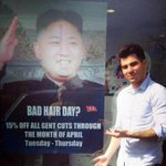 RT @BostonGlobe: UK Foreign Office receives letter from North Korea objecting to a London hair salons poster http://t.co/RH8zRYytiD http://t.co/v7DMlSTurl