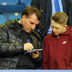 RT @LFCphoto: Man of the people. Brendan Rodgers at Goodison Park tonight. #LFC #EFC #CrystalPalace http://t.co/Hr2Sd623NO