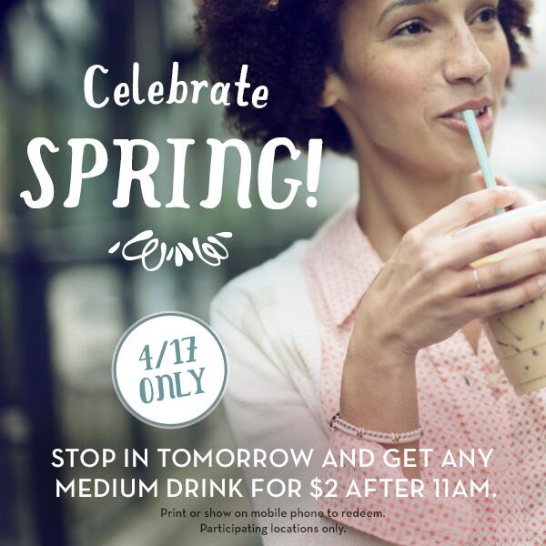 Stop in tomorrow after 11 a.m. for a $2 medium drink! Find a Caribou: http://t.co/rLg0pLW77j http://t.co/NamhqJFEuR