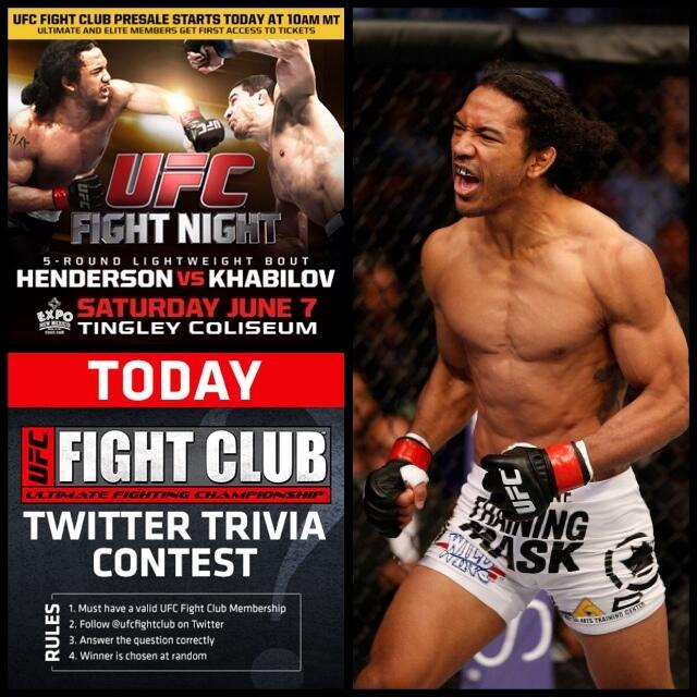 Last Q! Including #UFCFightNight, how many times will @BensonHenderson have been the Main Event on a UFC/WEC card? http://t.co/Awkb7HReQy