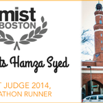 #MISTBoston14 judge @hamzasy5s running @bostonmarathon & we couldnt be prouder http://t.co/GgArgriESG #BostonStrong http://t.co/RKF23pHmPd