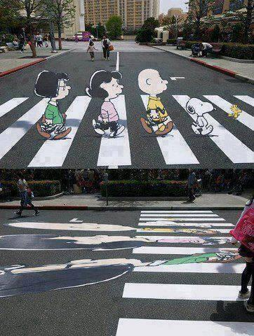 Illusion to slow down drivers. http://t.co/nyvyWiTbNO