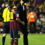 Messi y CR7 al final del partido. http://t.co/3QlWNTpNSI