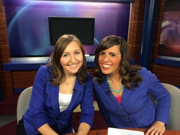 Sarah Swistak (@SarahSwistak): Surprise!  @laurahartmanwx and I showed up to work today wearing the same outfit. #WhatAreTheChances? http://t.co/O7ZWrPqnlU