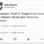 RT @TheSportsDude: . @kobebryant keeps it real again. #Lakers http://t.co/BDpxZM4Ych