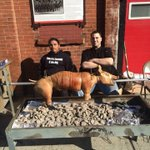 RT @ThomasJPerone: Pig roast. Its whats for dinner, Red Hook #brooklyn #pigroast @PIGGUYNYC http://t.co/1gBCytbZMR