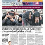 RT @guardian: Guardian front page Thursday 17 April 2014: Ukraines troops rolled in. And the crowd rolled them back http://t.co/65OJQVpQgy